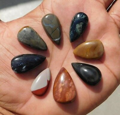 128.4 Cts Exclusive A+++ Wholesale Gemstone Mix Lot Cab 8Pcs.