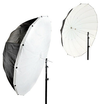 150cm Parabolic Black/White Umbrella with Removeable Diffusion