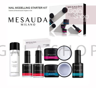 Mesauda Kit Ricostruzione Gel Unghie Nail Modelling Starter Professionale Uv Led