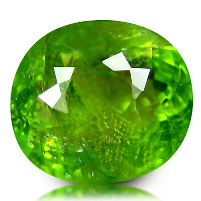 5.85Ct FINE TRANSPARENT! LOVELY UNHEATED BURMA PERIDOT OVAL LOOSE GEMSTONE