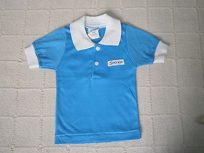 Vintage Jimykin Baby T-shirt - Age 1-2 Approx - Blue/White Collar -Acrylic -New
