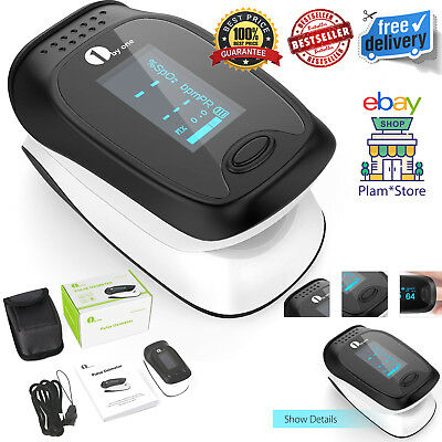 Finger Instant Pulse Reader Oximeter Sp02 Blood Oxygen Meter Monitor Carry Case