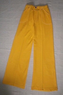 "Vintage Stretch Wide Flared Trousers- Age 10 -Teens -31"" I.leg -Yellow - New"