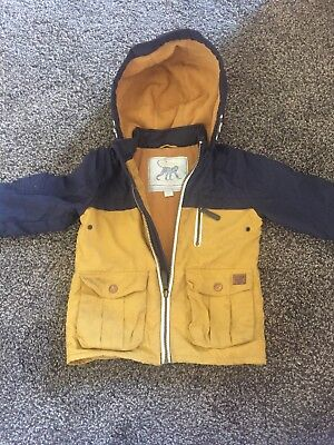 Smart & warm Monsoon Boys Coat 18-24 Months Navy & Mustard