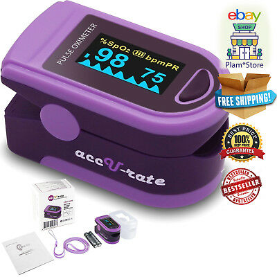 Professional Finger Pulse Reader Oximeter Sp02 Blood Oxygen Saturation Monitor