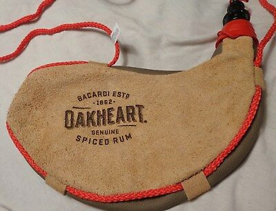 Bacardi Oakheart Soft Flask - Leather-Like Frontier Bottle - Throwback....NEW