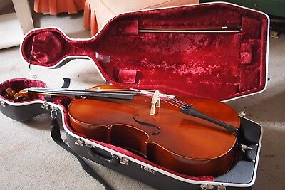 Otto Jos. Klier  full size cello with bow and hard case - barely used.