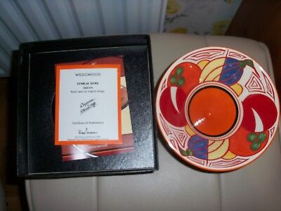 Wedgewood Conical Bowl Melon Bizarre By Clarice Cliff In Box With Certificate