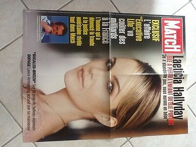 Rare Affiche Grand Format LAETICIA HALLYDAY Paris Match Juin 2004 Port Gratuit
