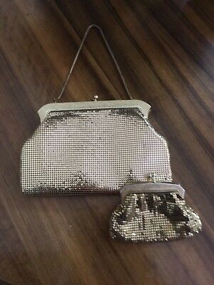 Vintage Oroton Gold Glomesh Evening Bag and Purse