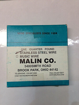 """Malin Co 0.031""""/0.80Mm One Quarter Pound Stainless Steel Wire"""
