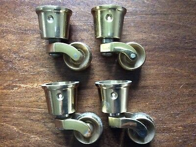 Set Of 4 Brass Castors