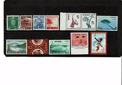 Japanese Mint unhinged stamps x 12  Free Postage in Aust.