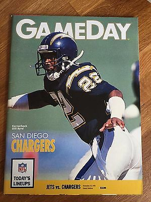 NFL Nov 24th 1991  New York Jets V San Diego Chargers GameDay Programme Program