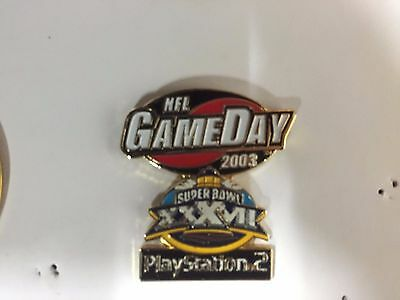 RARE Official NFL Super Bowl XXXVII 37 Pin Badge #9 : Buccaneers Oakland Raiders