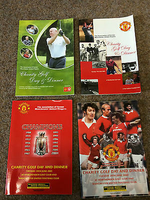 4  Manchester United Association Of Former Players Charity Golf Day Brochures