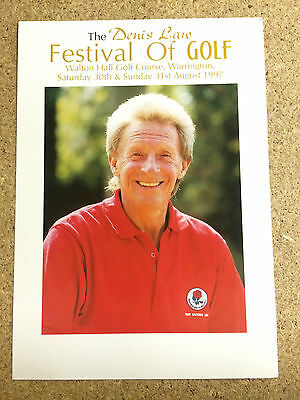 RARE Denis Law Festival of Golf Flyer  Manchester United 30th/31st August 1997