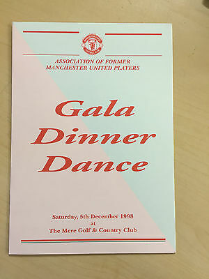 1998  Manchester United Ex Players Assoc. Christmas Gala  Dinner Menu