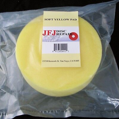 2 JFJ SOFT YELLOW BUFFING PADS for JFJ ARMLESS PRE 2006 MACHINE