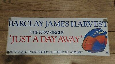 Barclay James Harvest Bjh Rare Promo Poster 1983 Just A Day Away 21 X 8 Inches