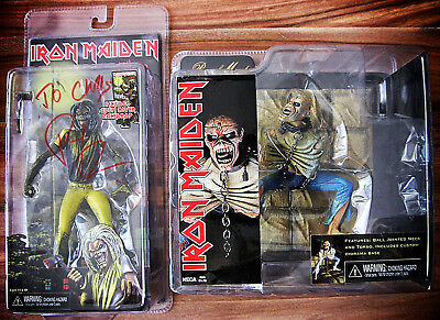 Pack 2 Figurines Neca Iron Maiden Killers Signed by Paul Di'anno Piece of Mind