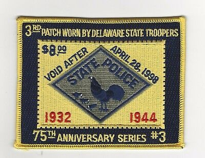 Delaware State Police 75th Anniversary Patch