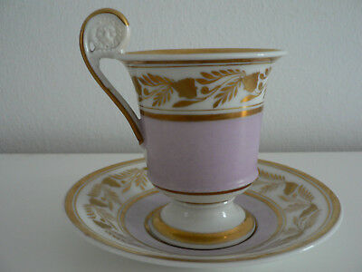 Empire Tasse + Untertasse Biedermeier