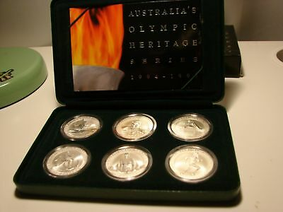 1994-96 AUS Olympic Heritage Set- 6x coins .999 Silver 20g each- Top Bargain