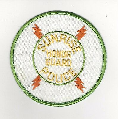 Sunrise Police Police Honor Guard Patches- Florida