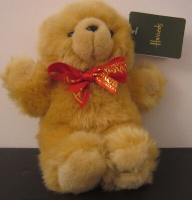 CUTE SMALLER HARRODS 17cm TEDDY BEAR bnwts RRP £12.95..NOW £9.99..new baby gift
