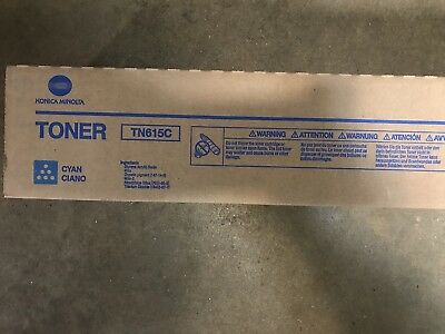 New Konica Minolta Bizhub Press C8000 Tn615C Cyan Toner A1Dy130