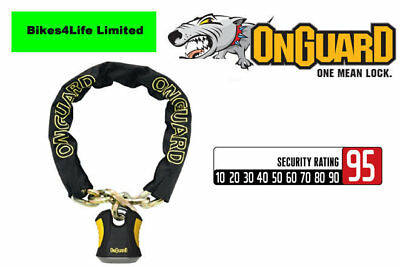 OnGuard BEAST 8017  Heavy Duty Chain Lock 110cm x 12mm Bike Moped Quadbike