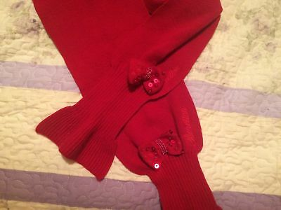 Girls UNITED COLORS OF BENETTON Red Knit Scarf