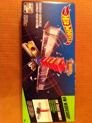 Hot Wheels Track Builder Busted Building Stunt Pack**NEW**