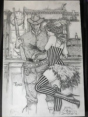 Jonah Hex 53 original cover art signed by Billy Tucci, Jimmy Palmiotti & Gray