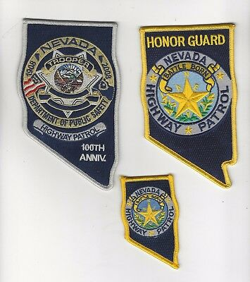 Nevada Highway Patrol Set of 3 Patches- Nevada