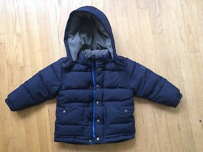 Baby Gap Navy Blue Puffer Jacket 3t