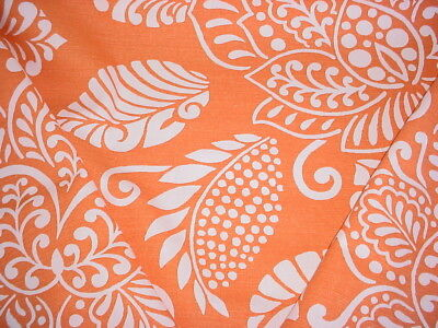 Thibaut Waterbury In Orange And White Floral Drapery Upholstery Fabric