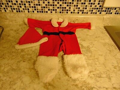 Infant DIMI by Kessler One Piece Footed with Hat Santa Sleeper Medium 11-18 lbs