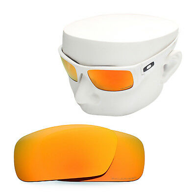 f079fd631f OOWLIT Replacement Sunglass Lenses for-Oakley Crankshaft POLARIZED - Red  Mirror