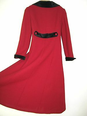 Laura Ashley Vintage Red Riding Coat Victorian/edwardian Style, 7 Years
