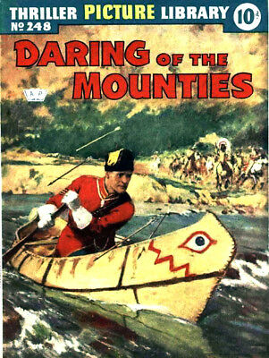 THRILLER PICTURE LIBRARY No.248 DARING OF THE MOUNTIES -  Facsimile Comic