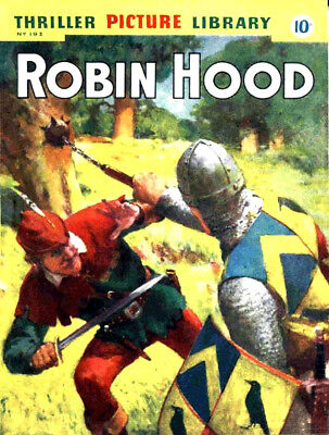 THRILLER PICTURE LIBRARY No.192 ROBIN HOOD -  Facsimile Comic