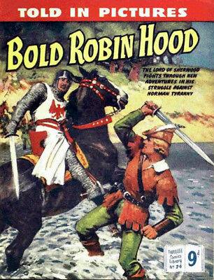 THRILLER PICTURE LIBRARY No.74 BOLD ROBIN HOOD-  Facsimile Comic