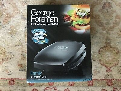 grorge foreman fat reducing health grill. Family  4 portion grill