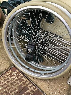 """22"""" Wheelchair wheels and tyres."""