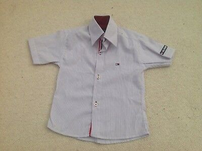 Tommy Hilfiger striped shirt. 100% Cotton. Boys. 18-24 months/92cm