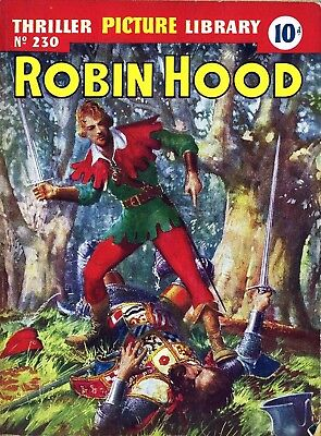 THRILLER PICTURE LIBRARY No.230 - ROBIN HOOD  -  Facsimile Comic