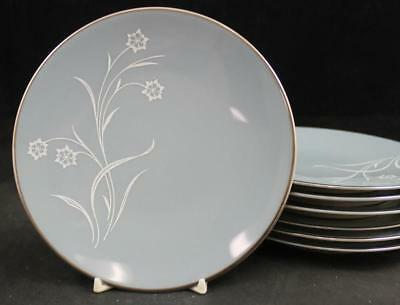 Flintridge REVERIE STRATA BLUE 7 Bread & Butter Plates GOOD CONDITION