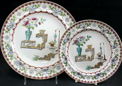 Spode CANTON Dinner Plate + Salad Plate 2/528 GREAT CONDITION
